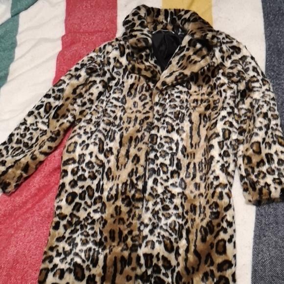 Leopard print coat by mango